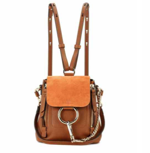 Faye Mini leather and suede backpack €1.150